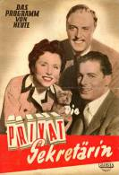 DPVH 229 Die Privatsekretärin 1954 Sonja Ziemann Rudolf Prack Paul Hörbiger Kino Filmprogramm Programm Movie - Zeitschriften