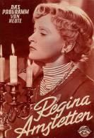 DPVH 236 Regina Amstetten 1954 Luise Ullrich Carl Raddatz Ernst Wiechert Neumann Filmprogramm Programm Movie - Zeitschriften