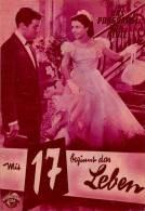DPVH 237 Mit 17 Beginnt Das Leben 54 Sonja Ziemann Paul Hubschmid Paul Hörbiger Filmprogramm Programm Movie - Zeitschriften