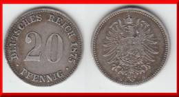 **** ALLEMAGNE - GERMANY - 20 PFENNIG 1875 A - ARGENT - SILVER **** EN ACHAT IMMEDIAT - [ 2] 1871-1918 : German Empire