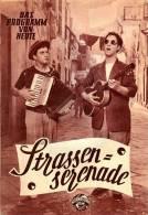 DPVH 244 Straßenserenade 1954 Vico Torriani Charles Regnier Ellinor Jensen Kino Filmprogramm Programm Movie - Zeitschriften