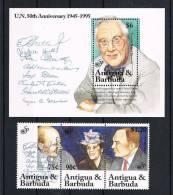 Antigua Und Barbuda 1995 50 Jahre UNO Mi.Nr. 2149/51 + Block 314 ** - Antigua Und Barbuda (1981-...)