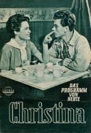 DPVH 262 Christina 1954 Barbara Rütting Lutz Moik Franziska Kinz Eva Rimski Kino Filmprogramm Programm Movie - Zeitschriften