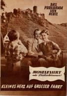 DPVH 278 Moselfahrt Aus Liebeskummer 1954 Oliver Grimm Will Quadflieg Bindings Filmprogramm Programm Movie - Zeitschriften