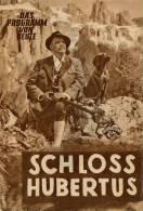 DPVH 283 Schloß Hubertus 1954 Marianne Koch Ludwig Ganghofer Lil Dagover Heltau Filmprogramm Programm Movie - Zeitschriften