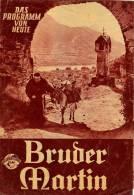 DPVH 300 Bruder Martin 1954 Paul Hörbiger Peter Weck Jane Tilden Karl Böhm Costa Filmprogramm Programm Movie - Zeitschriften