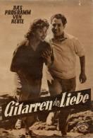 DPVH 316 Gitarren Der Liebe 1954 Vico Torriani Harald Juhnke Elma Karlowa Uhse Filmprogramm Programm Movie - Zeitschriften