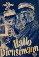 DPVH 66 Hallo Dienstmann 1952 Paul Hörbiger Hans Moser Maria Andergast Franz Antel Filmprogramm Programm Movie - Zeitschriften