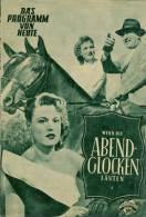 DPVH 69 Wenn Die Abendglocken Läuten 1952 Willy Birgel Paul Hörbiger Maria Holst Filmprogramm Programm Movie - Zeitschriften