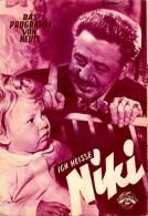 DPVH 87 Ich Heiße Niki 1952 Paul Hörbiger Aglaja Schmid Hardy Krüger Jugert Kino Filmprogramm Programm Movie - Zeitschriften