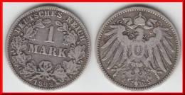 **** ALLEMAGNE - GERMANY - 1 MARK 1892 J - ARGENT - SILVER *** EN ACHAT IMMEDIAT !!! - [ 2] 1871-1918: Deutsches Kaiserreich
