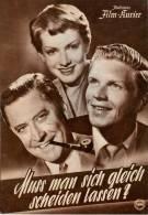 IFK 1766 Muß Man Sich Gleich Scheiden Lassen? 1954 Hardy Krüger Rurh Leuwerik Filmprogramm Programm Movie - Zeitschriften