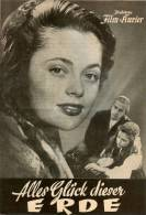 IFK 1838 Alles Glück Dieser Erde 1954 Margit Söderholm Ulla Jacobssen Schweden Filmprogramm Programm Movie - Zeitschriften