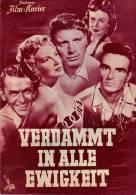 IFK 1937 Verdammt In Alle Ewigkeit 1954 From Here To Eternity Burt Lancaster Filmprogramm Programm Movie - Zeitschriften