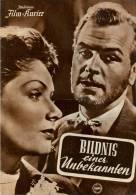 IFK 1985 Bildnis Einer Unbekannten 1954 Ruth Leuwerik O.W. Fischer Erich Schellow Filmprogramm Programm Movie - Zeitschriften