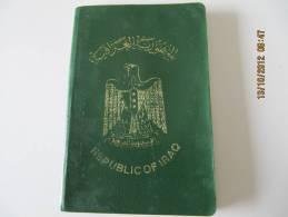 REPUBLIC OF IRAQ -   PASSPORT - 1966 -  RARE - 17 -  Passeport   CANCELLED** Read Description ! - Historische Documenten