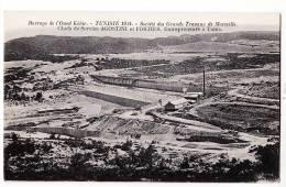 Peu Commun TUNISIE 1924 BARRAGE OUED KEBIR Construction Entrepreneurs AGOSTINI FORTIER Société GRANDS TRAVAUX MARSEILLE - Tunisia