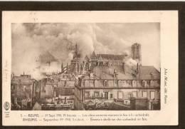 Reims. 19 09 1914 à 15 H.Les Obus Ennemis Mettent Le Feu à La Cathédrale. - Reims