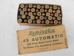 Boite 45 Acp Colt 45 Remington Percées BCRA OSS Parachutage Maquis Résistance Para Débarquement FFI FTP Indo Indochine - Zonder Classificatie