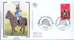 FDC   DRAGON   De  LA GARDE IMPERIALE          - 2004- 47 - Napoleón