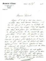 Lettre De Cannes (13/02/1938) - Brasserie D´Alsace - Andere