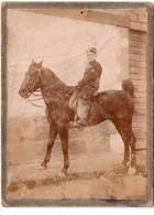 Militaria, Cavalier Sur Sa Monture (à Identifier) (13.75) - Guerre, Militaire