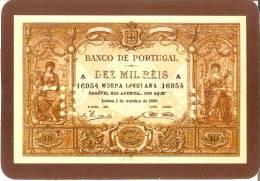 CALENDARIO DEL AÑO 1991 DE UN BILLETE DE BANCO DE PORTUGAL 10000 REIS (CALENDRIER-CALENDAR) - Calendarios
