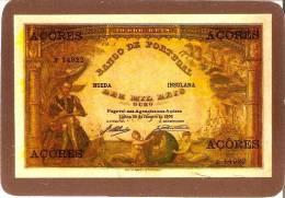 CALENDARIO DEL AÑO 1991 DE UN BILLETE DE BANCO DE PORTUGAL 10000 REIS (CALENDRIER-CALENDAR) - Tamaño Pequeño : 1991-00