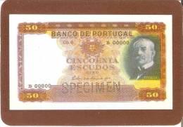 CALENDARIO DEL AÑO 1991 DE UN BILLETE DE BANCO DE PORTUGAL 50 ESCUDOS (CALENDRIER-CALENDAR) - Tamaño Pequeño : 1991-00