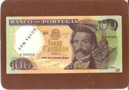 CALENDARIO DEL AÑO 1991 DE UN BILLETE DE BANCO DE PORTUGAL 100 ESCUDOS (CALENDRIER-CALENDAR) - Kalender