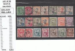Lot N° 59**/*/° Entre 27 & 157  Cote: 8.20 €  Prix:1.80 € - Indochina (1889-1945)