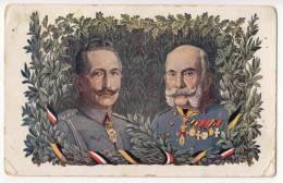 "ROYAL FAMILIES EMPEROR FRANZ JOSEF ""LOYALTY ALLIES"" S.ST.W. Nr. 213 JAMMED CORNER OLD POSTCARD - Royal Families"
