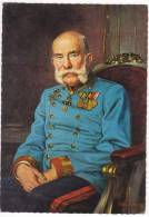 ROYAL FAMILIES EMPEROR FRANZ JOSEF Nr. 51580 OLD POSTCARD - Royal Families