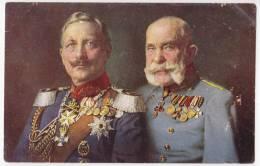 ROYAL FAMILIES EMPEROR FRANZ JOSEF Nr. 128 JAMMED CORNER OLD POSTCARD - Royal Families
