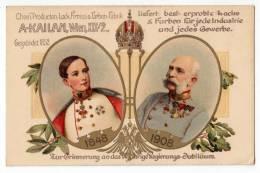 ROYAL FAMILIES EMPEROR FRANZ JOSEF 1848.-1908. OLD POSTCARD - Royal Families