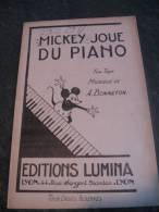 Partition Mickey Joue Du Piano Fox Trot A BONNETON - Old Paper