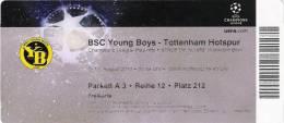 BSC Young Boys-Tottenham Hotspur/Football/UEFA Champions League Match Ticket - Tickets D'entrée