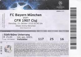 FC Bayern Munchen-CFR 1907 Cluj/Football/UEFA Champions League Match Ticket - Tickets D'entrée