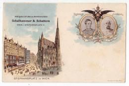 ROYAL FAMILIES EMPEROR FRANZ JOSEF STEPHANSPLATZ IN VIENNA OLD POSTCARD 1898. - Royal Families