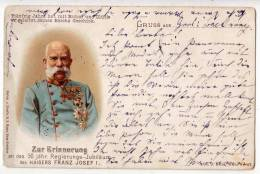 ROYAL FAMILIES EMPEROR FRANZ JOSEF 1848.-1898. 50 JEARS OLD POSTCARD - Royal Families