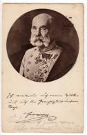 ROYAL FAMILIES EMPEROR FRANZ JOSEF OLD POSTCARD 1916. - Royal Families