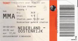 Netherlands-Austria/Football/International Match Ticket - Tickets D'entrée