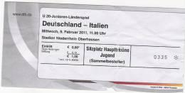 Germany-Italy U-20/Football/International Match Ticket - Tickets D'entrée