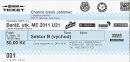 Czech Republic-Greece U-21/International Football Match Ticket - Tickets D'entrée
