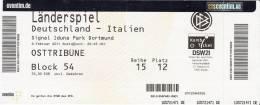 Germany-Italy/International Football Match Ticket - Tickets D'entrée