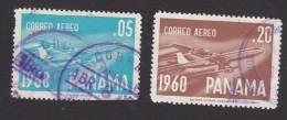 Panama, Scott# C240, C242, Used, Boeing Jet, Issued 1960 - Panama