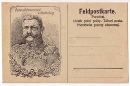 ROYAL FAMILIES GENERALFELDMARSCHALL V. HINDENBURG OLD POSTCARD - Royal Families