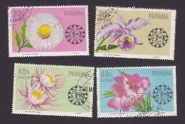 Panama, Scott# C343, C345, C246, C347, Used, Flowers, Issued 1966 - Panama