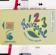 TELECARTE NSB 50 U - 1, 2,3 BOURGOGNE Chance Emploi Réussite - 800 Ex @ 10/1999 - RARE !!!!! - France