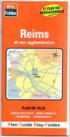 PLAN  DE  REIMS  Et Son Agglomération  -  Plan Guide Blay - Foldex - Cartes